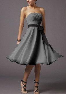 Lady Strap Formal Prom Short Gown evening Dress/Bridesmaids Dress/Wedding Dress | eBay  Ooooh pretty!