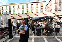 Hacienda Plaza, one of the streetside restaurants in Plaza Nueva