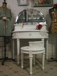 Painted Cottage Shabby White Romantic Vanity