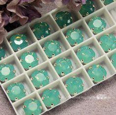 Pacific Opal Sew On Swarovski Crystal 8mm by MyWiredImagination, $5.00