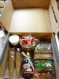 Home made ice cream sundae kit