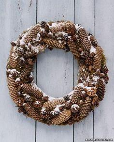 pinecone wreath via martha