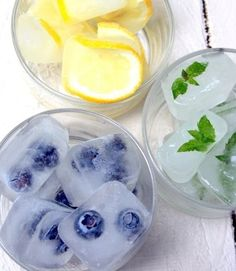 Funky Fresh Frozen Fruit Water - Click for Recipe