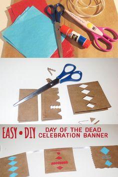DIY Day of the Dead Celebration Banner