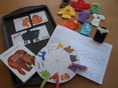 Brow Bear, Brown Bear - Tot Bag (a bunch of cute toddler & preschooler activities)