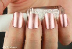 penni talk, nail polish, gold nails, nailpolish, nail colors, roses, essi rose, essi penni, rose gold