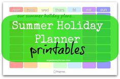 Summer holiday planner printables