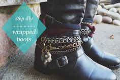 studs and pearls: diy: Wrapped Boots