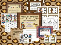 Free!! Wild West unit...literacy activities with a western theme! Use with mark teagues how I spent my summer vacation
