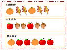 Fall Pattern classroom, idea, fall pattern, preschool math, teacher touch, fall math, educ, fall activ, fall theme
