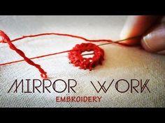 Hand embroidery -Bullion knot stitch (stitch a rose) - YouTube