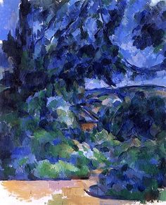 Blue Landscape Paul Cezanne - circa 1904-1906 circa 19041906, blue landscap, paul cezanne, paul cézann, inspir, paint, artist, blues, oil