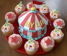 Big top and circus cupcakes