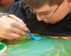 Students at Perkins School for the Blind take accessible tactile art classes. Find ideas for art projects!