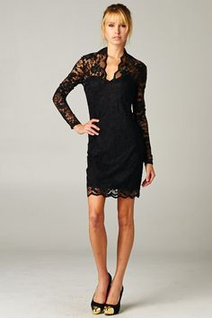 Grace Dress in Black Lace