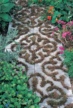 Garden Moss Tiles  // Great Gardens & Ideas //
