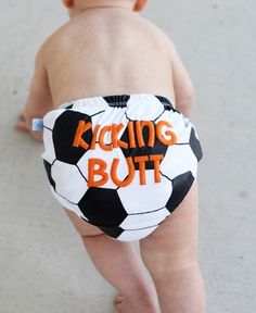 diapers, baby gifts, sport, son, babi, future kids, diaper covers, kick butt, soccer