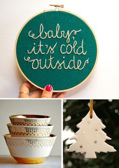Vintage christmas decorations. Love the bowls