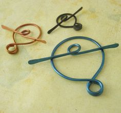 3 Handmade Niobium Toggle Clasps  - Natural Silver or Custom Anodized for You - Hypo Allergenic