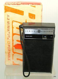 Pocket transistor radio!  With the strap you could hang it on your bike handlebars.  (and ignore that your signal kept fading in and out!)