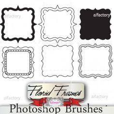 Sqaure frames graphics digital stamps