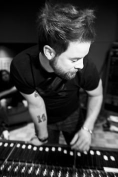 David Cook - In Studio  An artsy shot! Yeah, yeah...I know your boards are flooding with my David Cook pins...sorry...you're just going to have to deal with the cuteness.