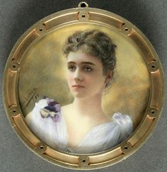"""Mrs. Elliott Roosevelt (Anna Hall, 1863-1924), 1893. Artist: Katherine Arthur Behenna (ca. 1860-1924). Eleanor Roosevelt opened her autobiography with the declaration: """"My mother was one of the most beautiful women I have ever seen."""""""