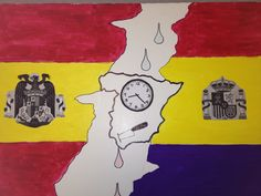 student created project after study of the Spanish Civil WAr and Franco.