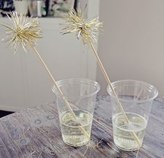 DIY New Years Eve Drink Stirrers