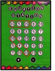 Equation Boggle (Grades 2-4)