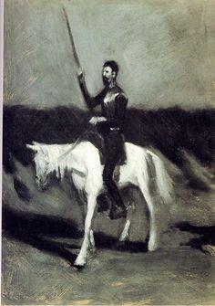 Edward Hopper (1882-1967)  ~    Don Quixote on Horseback, 1904