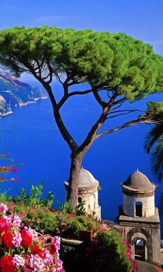 View from the town of #Ravello on the #Amalfi Coast of Italy • photo: Rodger Underwood on FineArtAmerica