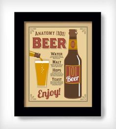 Anatomy of Beer Print by DexMex on Scoutmob Shoppe (partner)