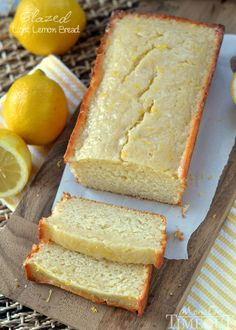 Glazed Light Lemon Bread made with buttermilk and coconut oil!   MomOnTimeout.com