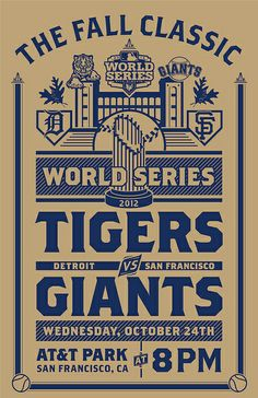 Detroit Tigers and San Francisco Giants World Series