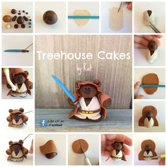 Fondant Jedi Bear Tutorial by Treehouse Cakes by Kat