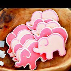 Cute pink elephant cookies