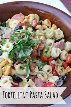 Yummy Picnic Tortellini Pasta Salad  Perfect for any picnic. Great as a side or main dish.
