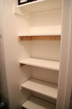 Easy DIY shelves! I can never have enough shelves, I so wanna do this in my kids long closets!