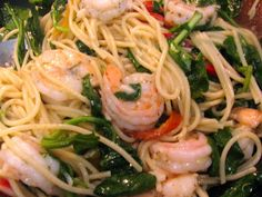 Rita's Recipes: Shrimp with Roasted Peppers and Spinach