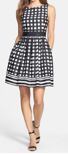 Darling checkered fit and flare dress http://rstyle.me/n/mep4hnyg6