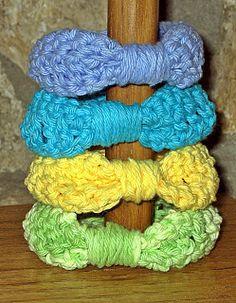 Just Make It: Handmade By Annabelle: Simple Crochet Ribbon Bracelet / Bangle