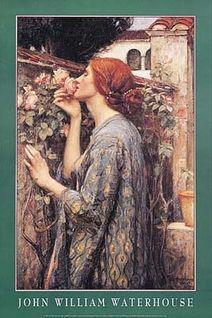 My Sweet Rose, by John William Waterhouse, Poster