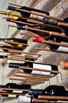 Copper rod industrial wine storage
