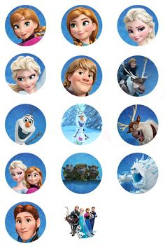 Frozen bottlecap images from a Facebook group