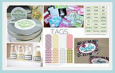 kitchen gifts, picasa, craft, printables, printable labels, organizations, gift tags, free printabl, onlin printabl