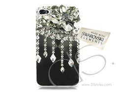 5s case, crystal iphon, crystal phone, bling swarovski, diamond bling, phone case, diamond swarovski, swarovski crystals, drop diamond