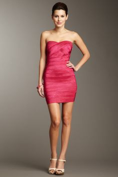 Luxe Strapless Bandage Dress