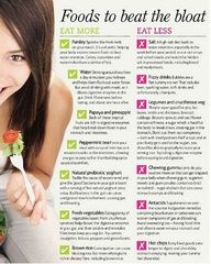 EAT MORE  Parsely: Sprinkle the fresh herb on your meals. Its a diuretic, helping your body excreet excess fluids to beat water retention. Celery, cucumber and watermelon have a similar effect.    EAT LESS  Salt: A high salt diet leads to water retention Find out how people all over the world are getting a flat stomach in as little as 7 days. You will be blown away!