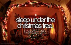 sleep under the Christmas tree bucketlist, christmas time, bucket list before i die ideas, christmas lights, christmas eve, 5 years, christmas trees, bucket lists, kid